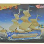 ship 3d puzzle lemn