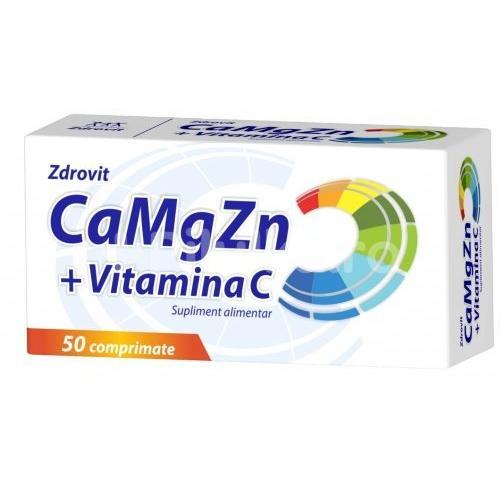 Ca+Mg+Zn+C 50cpr ZDROVIT