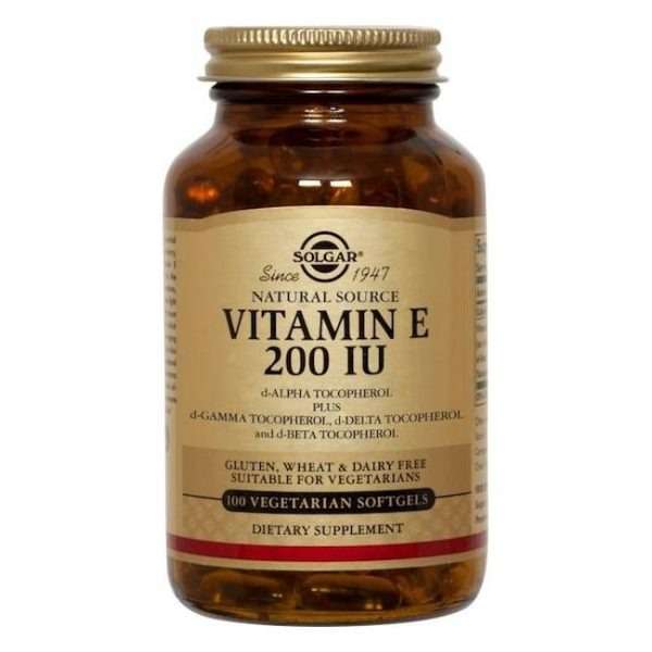 VITAMIN E 200IU 134mg softgels 50cps SOLGAR