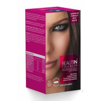 beautin collagen cu biotin 30 capsule