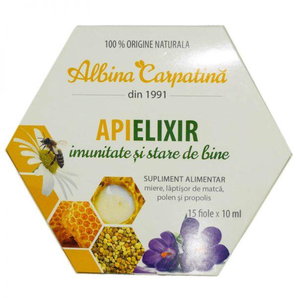 APIELIXIR-MIERE,POLEN,LAPTISOR,PROPOLIS-15fiole-x-10ml--APICOLA-PASTORAL-GEORGESCU