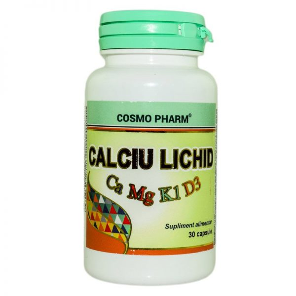 CALCIU-LICHID(Ca+Mg+vit.D3)-30cps-COSMOPHARM