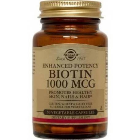 PACHET-BIOTIN-1000mcg-veg.caps-50cps+MAGNESIUM-+-B6---100cpr(cadou)-SOLGAR